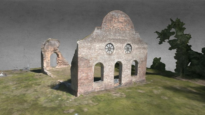 American Ruins: Pon Pon Chapel of Ease 3D Model