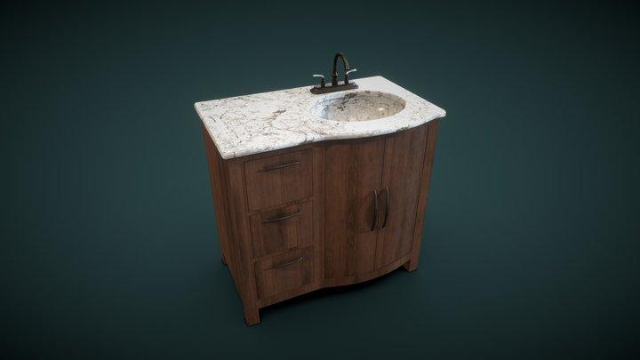 Marble Bathroom Sink (FREE) 3D Model