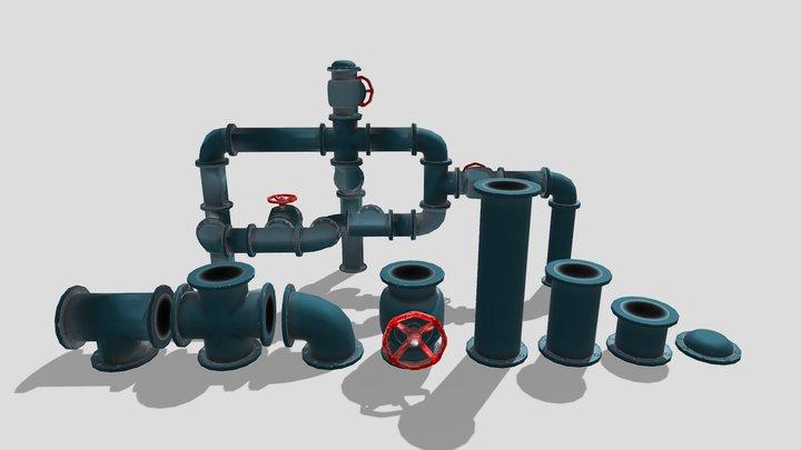 Modular Pipes 3D Model