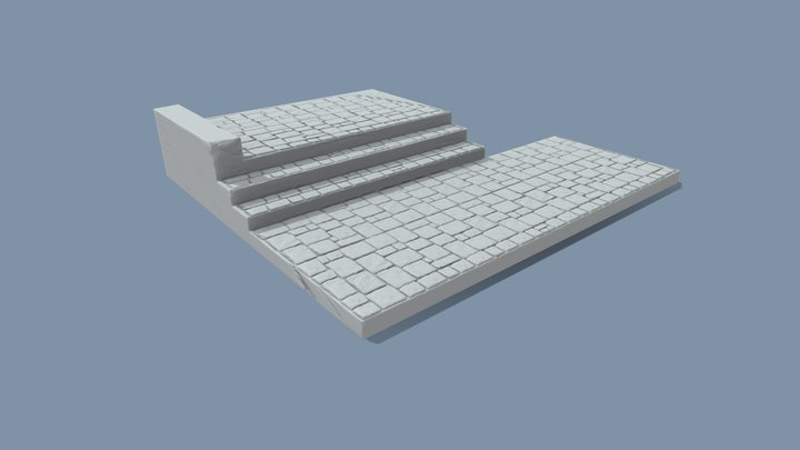 STAIRS baked 3D Model