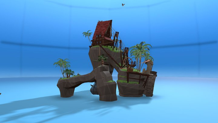 -= Slaughtery Reef =- A Pirate Island 3D Model