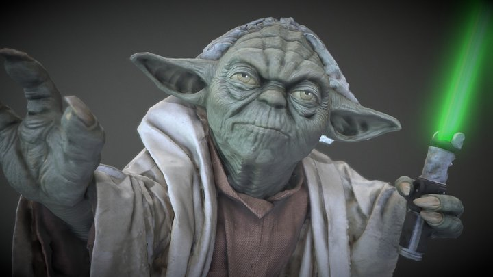 Star Wars Yoda Figure #RCToyChallenge 3D Model