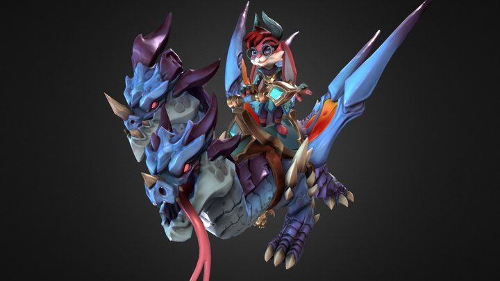 Dragon Born Moji 3D Model