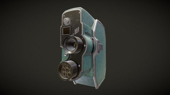 Bauer 88B Super 8 Camera 3D Model