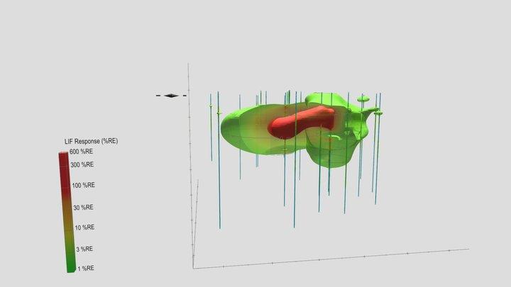 LIF Visualization at an active facility 3D Model