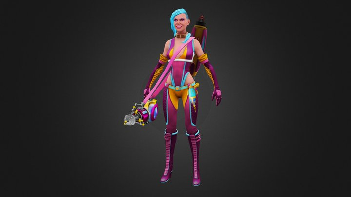 Jinx Retro Space 3D Model