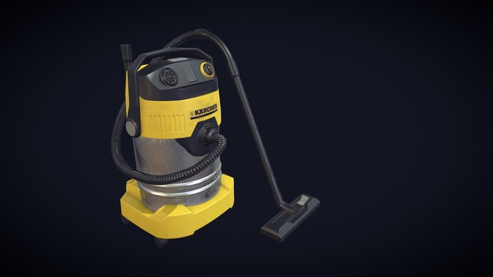 Game Asset wet and dry Vac Cleaner 3D Model