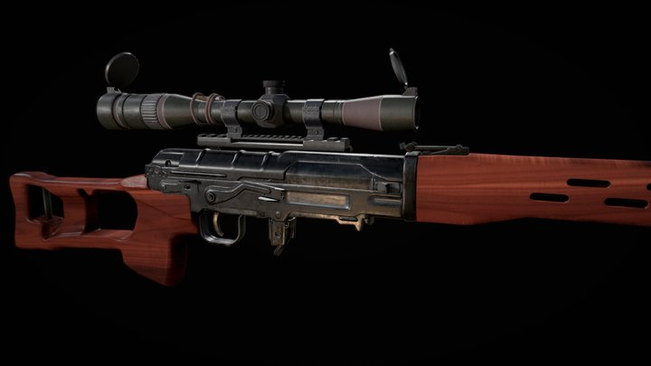 Dragunov SVD 3D Model