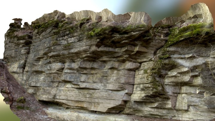 layered rock formation 3D Model