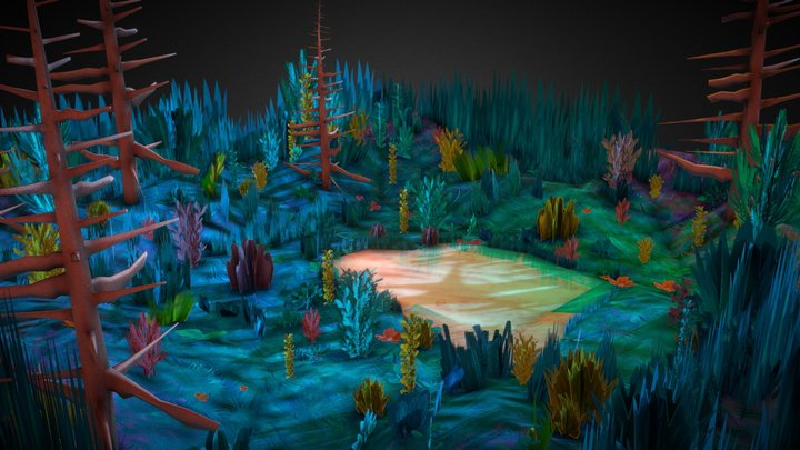 Forest clearing 3D Model