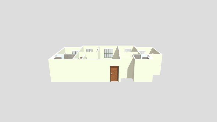 Magnolia Apartments: 4 Bedroom Unit 3D Model