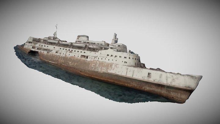 Wreck of cruise ship, Saudi Red Sea Coast 3D Model
