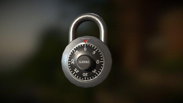 Combination Lock Dial 3D Model