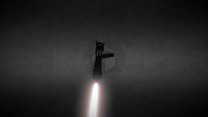 Non-canon Star Wars Blaster 3D Model
