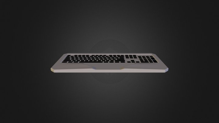 Basic Keyboard Highpoly 3D Model