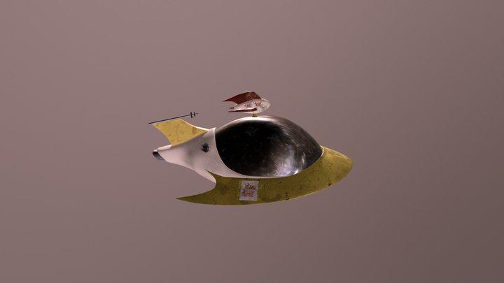 Pizza Planet Spaceship 3D Model