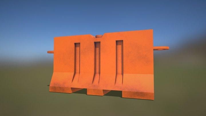 Roadblock Speed Model 3D Model