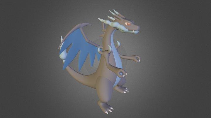 Charizard Mega X _ by Nana Velho 3D Model