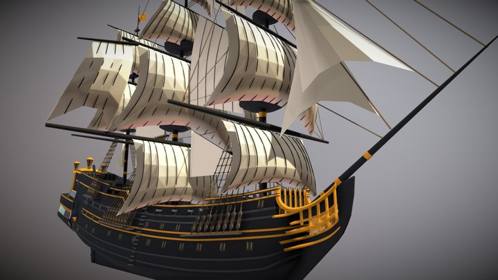 WIP Ship 3D Model