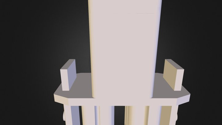 0024 Tappo Superiore Montante Mobile Perimetrale 3D Model