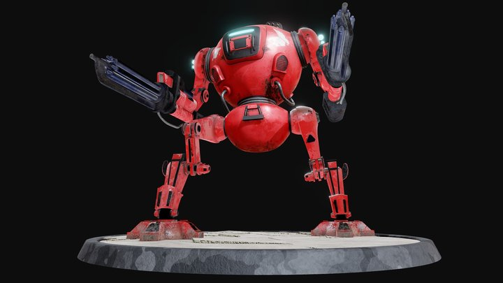Mecha TIF-MKII / Steel Squad 3D Model