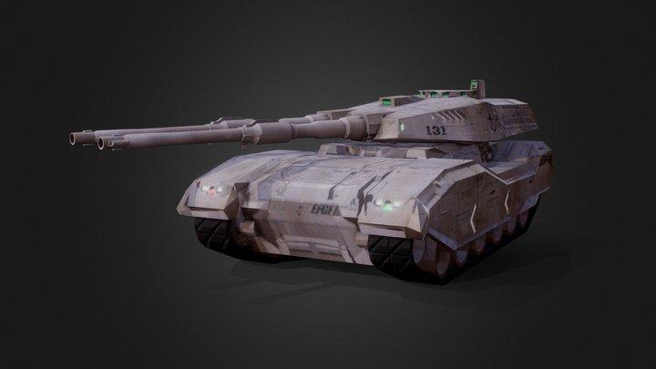 Type-61 TANK 3D Model
