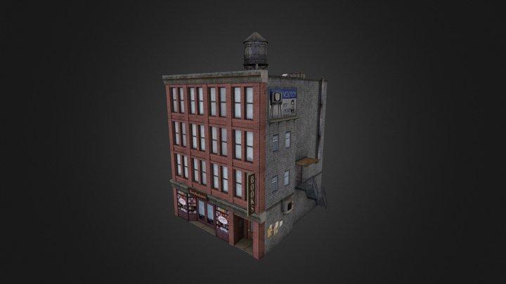 Retro City Pack Building 01 3D Model