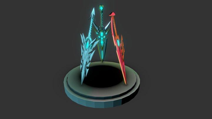 Xenoblade Chronicles 2: 3 Aegis Swords 3D Model