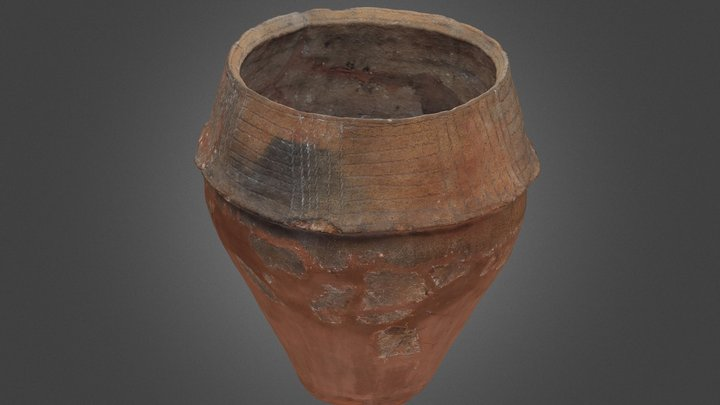 Bronze Age Collared Urn 3D Model