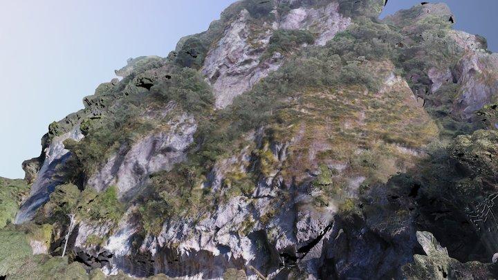Rock Wall along the Road 3D Model