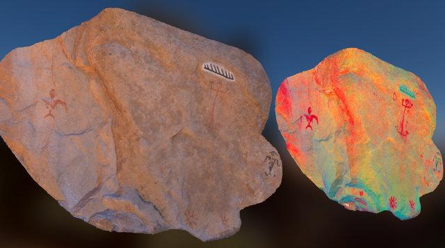 Vaquez Rocks Pictographs 3D Model