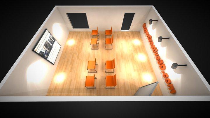3D Building interactive example. 3D Model