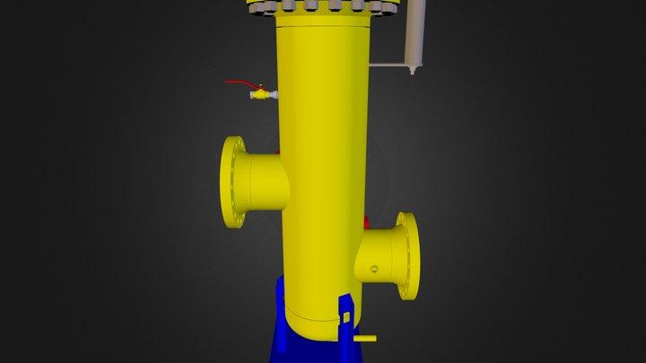 Gasni Filter DN200 - DN80 3D Model