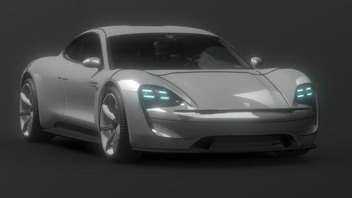Porsche Taycan 3D Model