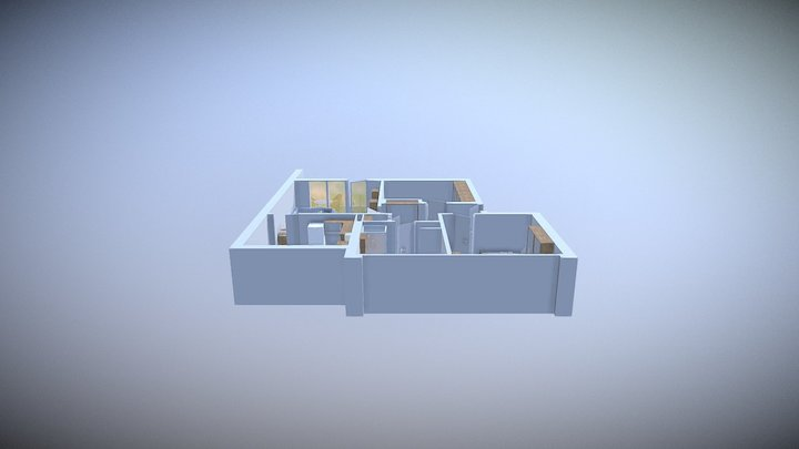 Apartment plan 3D, AR App 3D Model