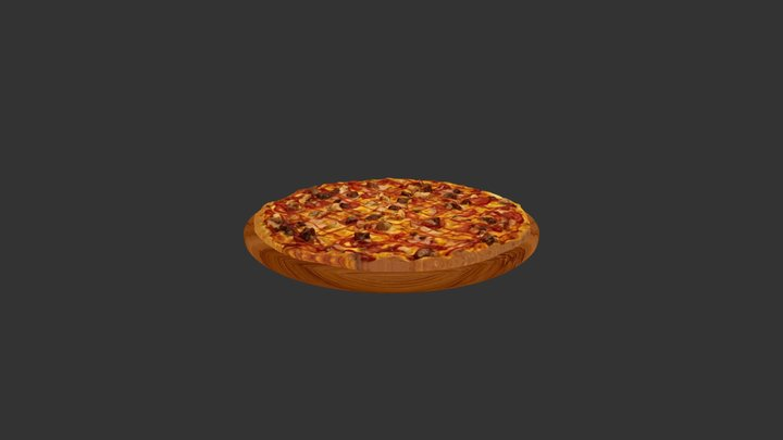 Tomato Meat Red Pizza 3D Model