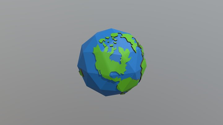 Low-Poly Earth 3D Model