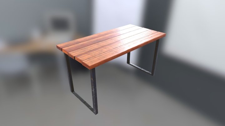 Old Table - Game Ready 3D Model