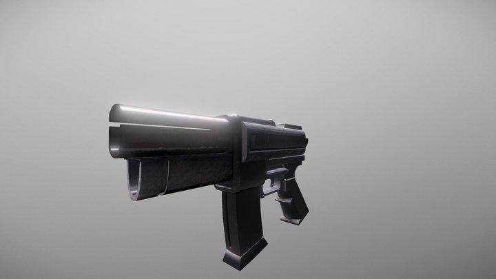 Doom 1993 box art pistol 3D Model