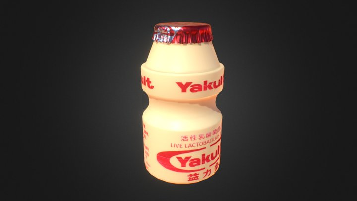 Yakult ヤクルト Game-ready 3D Model