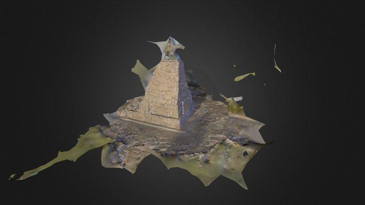 3D Scan - Monumento a Guemes 3D Model