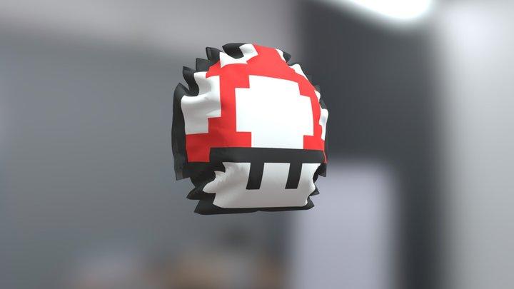 Pillow mushroom Mario 3D Model