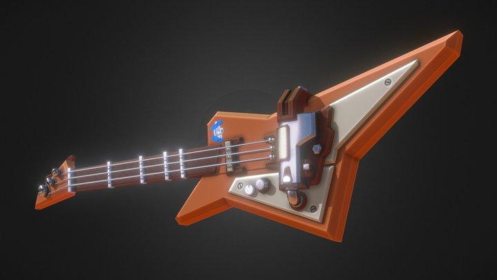 Cartoon Guitar 3D Model