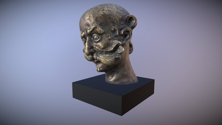 Testa Bronzo 3D Model