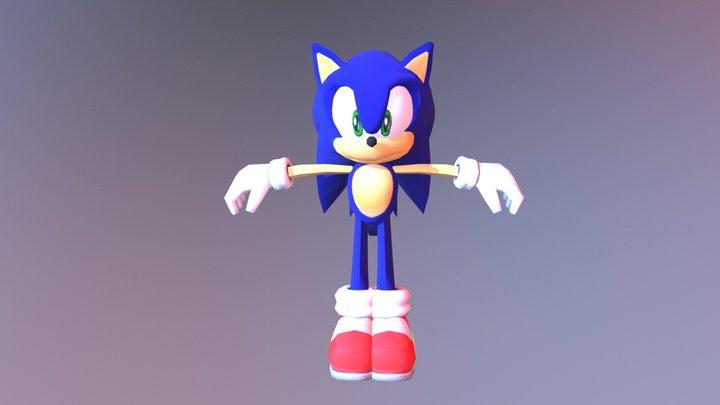 Sonic Adventure DX Directors Cut - Sonic 3D Model