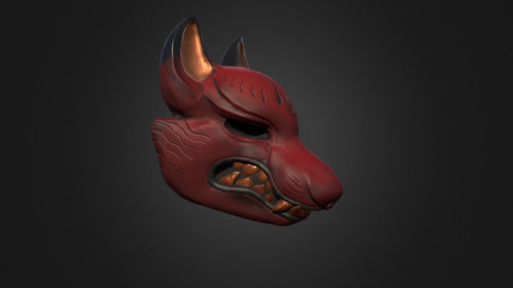 Mask kitsune 3D Model