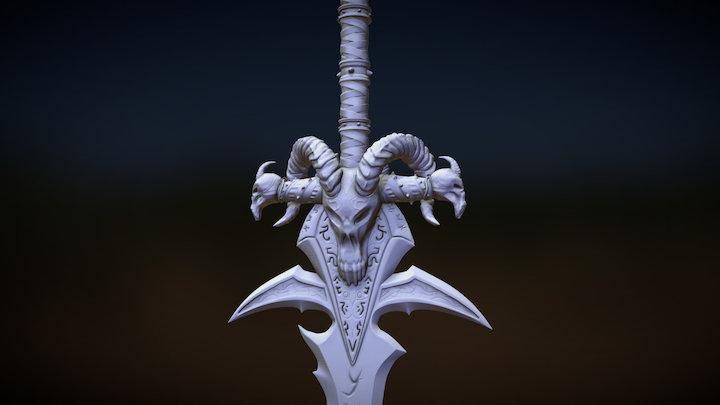 Frostmourne - World of Warcraft 3D Model