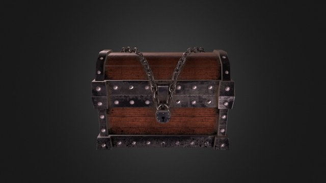 lowpoly chest 3D Model