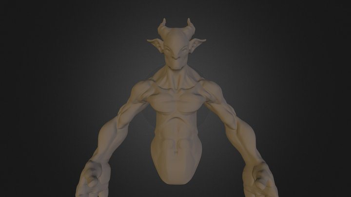 Stylized Anatomy Sculpt 3D Model
