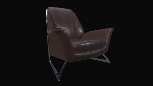 anydrift.com Armchair08 high poly 3D Model